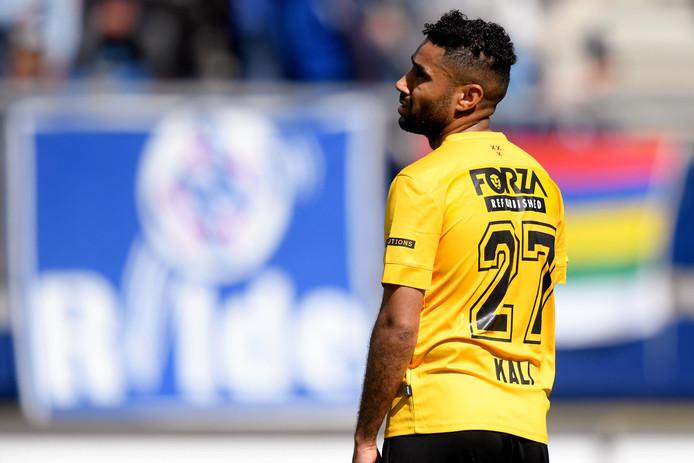 Anouar Kali tijdens de uitwedstrijd tegen SC Heerenveen.