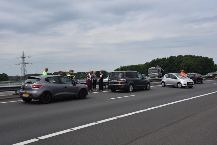 Ongeluk op de A73.