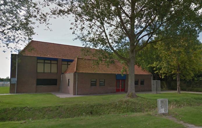 De gymzaal in Sint Laurens.
