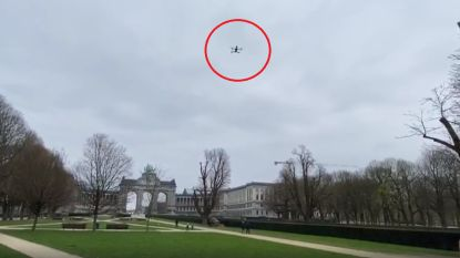 "Brusselse en federale politie zetten sprekende drones in om te controleren: ""Hou afstand"""