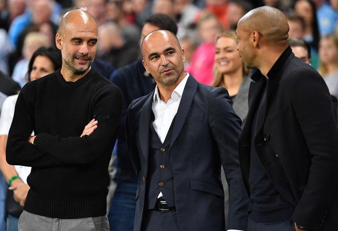 Pep Guardiola, Roberto Martinez et Thierry Henry