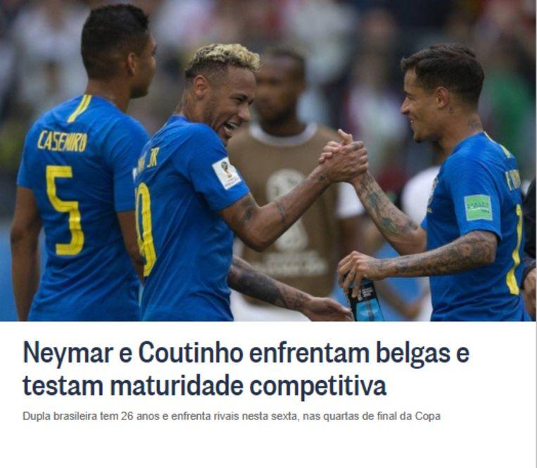 De vooruitblik van 'O Globo' op het treffen.