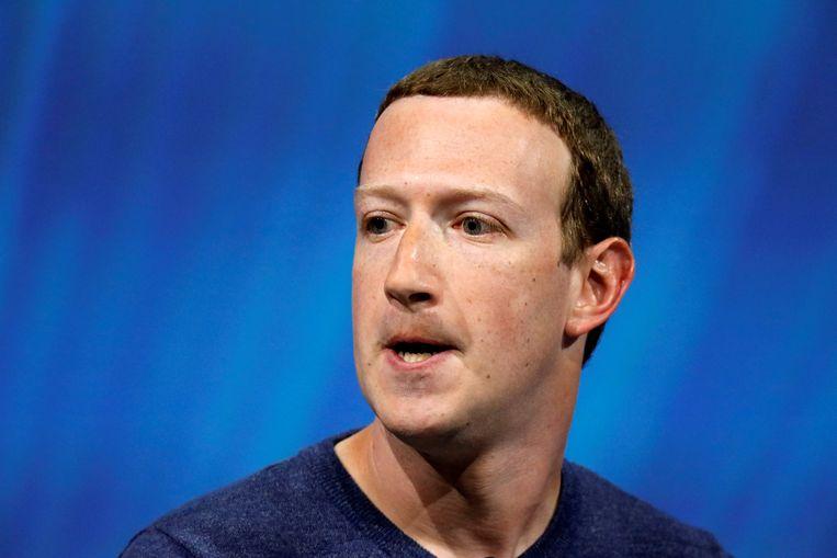 Mark Zuckerberg Beeld Reuters