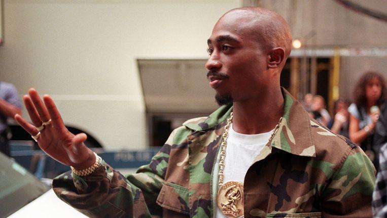 Tupac in 1996 tijdens de New York's Radio City Music Hall, drie dagen daarna werd hij vermoord