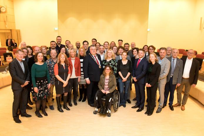 De nieuwe gemeenteraad van Nijmegen.