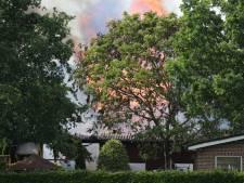 Brand in schuur waar kippen en duiven worden gehouden in Wilbertoord