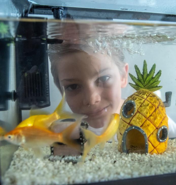 Jamie (8) uit Zwolle heeft genoeg geld bij elkaar. Wie kan hij blij maken met een vis?