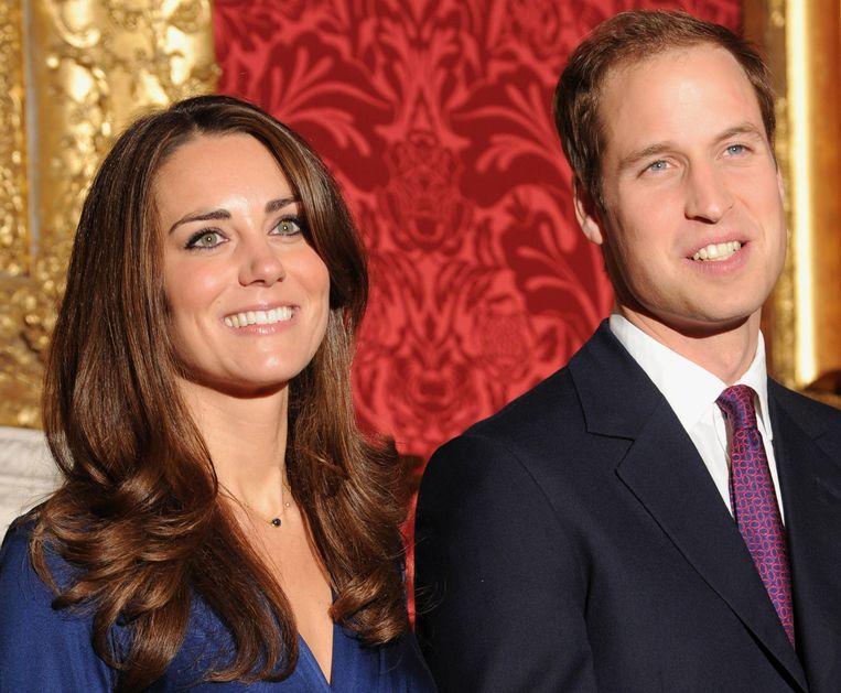 Kate en William in november 2010. Beeld afp