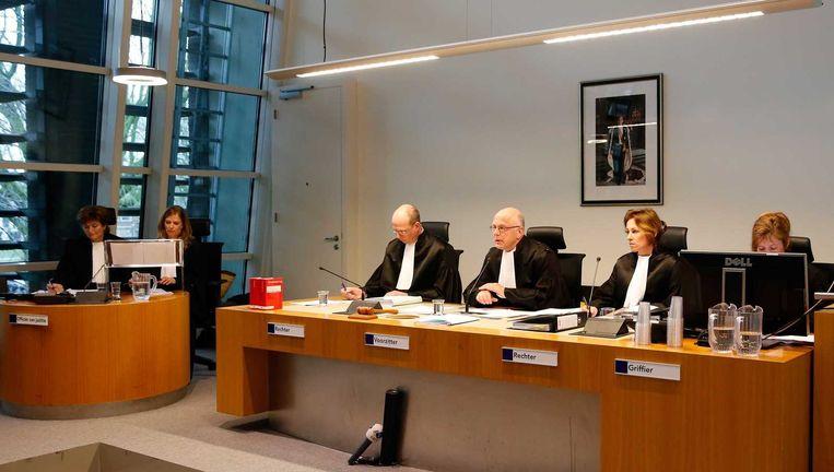Rechters in de rechtbank van Utrecht. Beeld null