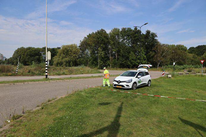 Verkeersregelaars bij het Wilheminapark in Rijswijk.