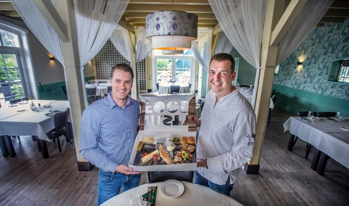 Restaurant Hoeve Kromwijk met Marco Blokland (l.) en Dennis Bruinzeel.