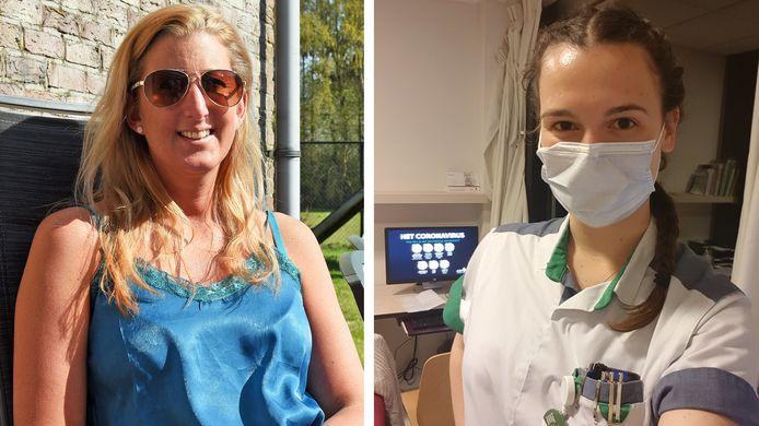 Links: Sofie Meykens uit Heikant. Rechts Femke Roelandts.