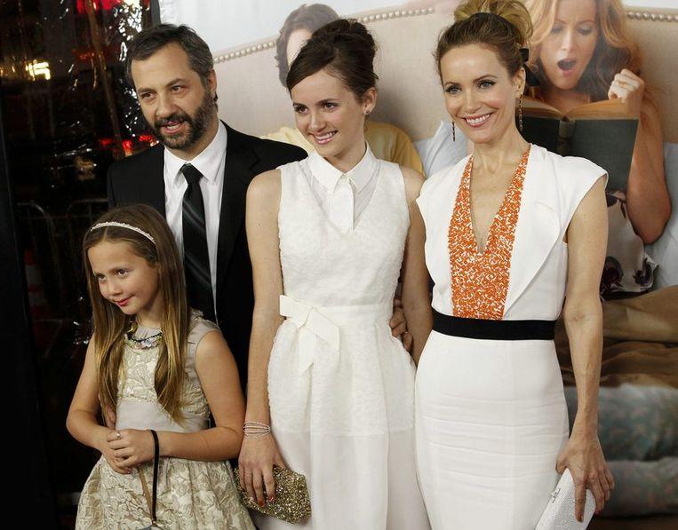 Judd, Leslie en hun dochters Iris en Maud, die ook in de film de dochters van 'Debbie' spelen.