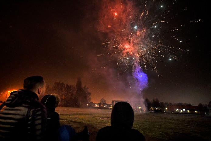 Vuurwerkshow van Harings Vuurwerk in Almelo.