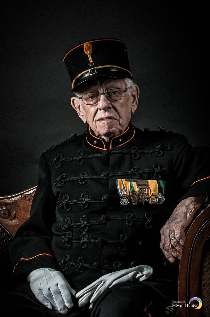 Oud-militair en veteraan 'meneer Aarts' in Bronbeek. Fotograaf: Edwin Hunter