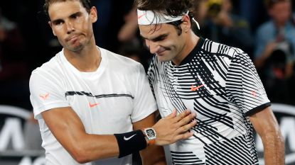 """Nadal houdt het op sarcastische opmerking, anderen zijn hard voor Federer: """"Je kan hem moeilijk nog een actieve tennisser noemen"""""""