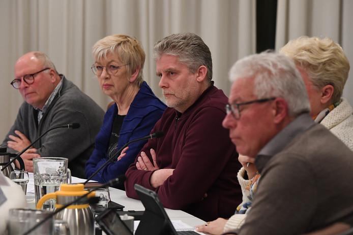 De gemeenteraad van Grave. Met in het midden Rob Bannink van de VVD.