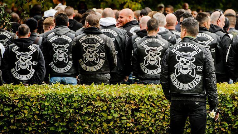 Leden van motorclub No Surrender tijdens de uitvaart van captain Brian Dalfour Beeld anp