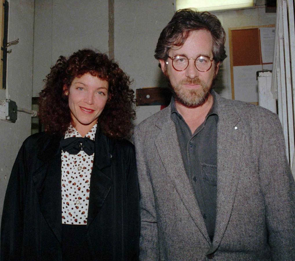 Steven Spielberg et Amy Irving, en1988.