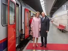 Un train royal pour le roi Philippe et la reine Mathilde au Luxembourg