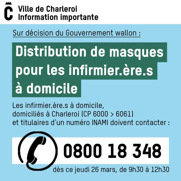 Appel aux infirmiers et infirmières de Charleroi