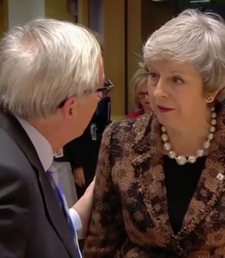 Juncker legt zijn opmerking uit na openlijk ruzietje met May in Brussel