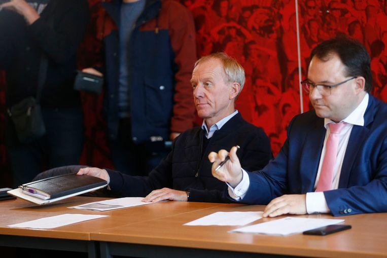 Anderlecht-CEO Jo Van Biesbroeck en advocaat Bert van Der Auwera