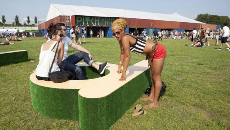 In het Westerpark begint vanmiddag het tweedaagse Pitch festival Beeld Elmer van der Marel