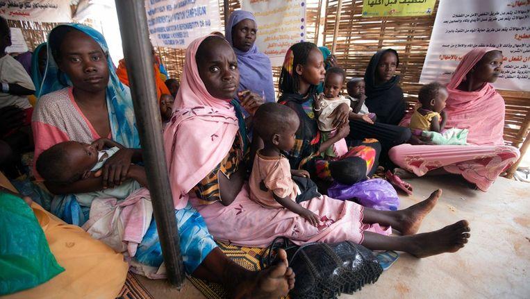 Vluchtelingenkamp in Noord-Darfur. Beeld epa