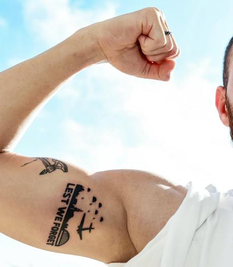 Kashia neemt afscheid van Arnhem met tattoo 'Lest we forget'