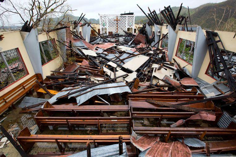 Schade in Haïti na de verwoestende aardbeving van 2010.