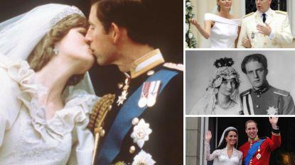 Superromantisch, peperduur of met een vleugje schandaal: de meest spraakmakende koninklijke huwelijken aller tijden