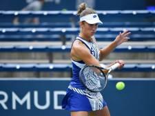 Le match d'Elise Mertens interrompu par la pluie et reporté à vendredi