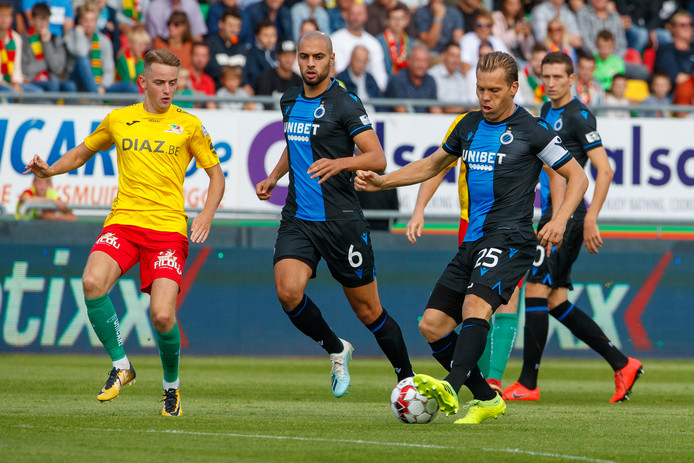 Ruud Vormer in actie tegen Oostende gisteren.