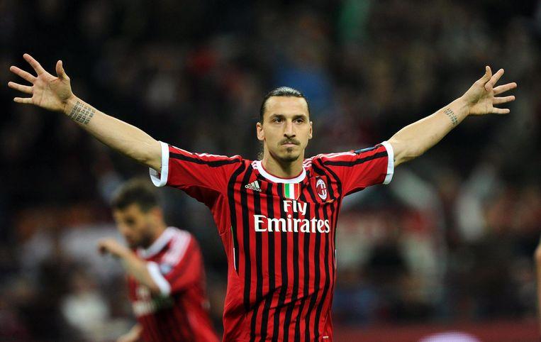 Zlatan die een goal viert bij AC Milan; een beeld dat we binnenkort terugzien?