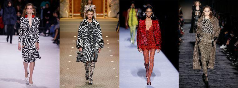 V.l.n.r. Balenciaga, Dolce&Gabbana, Tom Ford en Max Mara. Beeld null