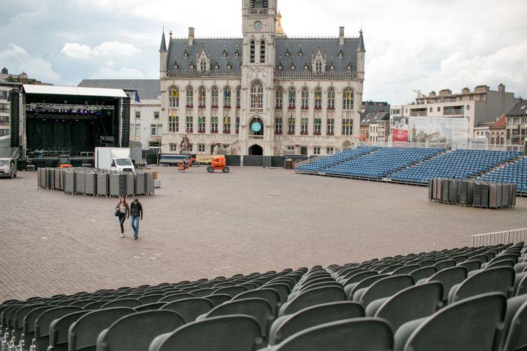 Op de Grote Markt in Sint-Niklaas worden woensdagavond 10.000 mensen verwacht voor de openingsceremonie van de Special Olympics.