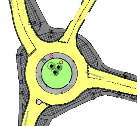 Op het kruispunt van de Nazarethsesteenweg met de Kasteelstraat, Lozerdorp en de Ouwegemsesteenweg komt een rotonde.