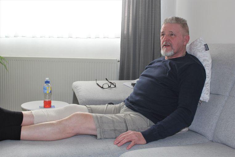 Luc Cnockaert van het ABVV raakte gewond aan zijn meniscus en is één week werkonbekwaam.