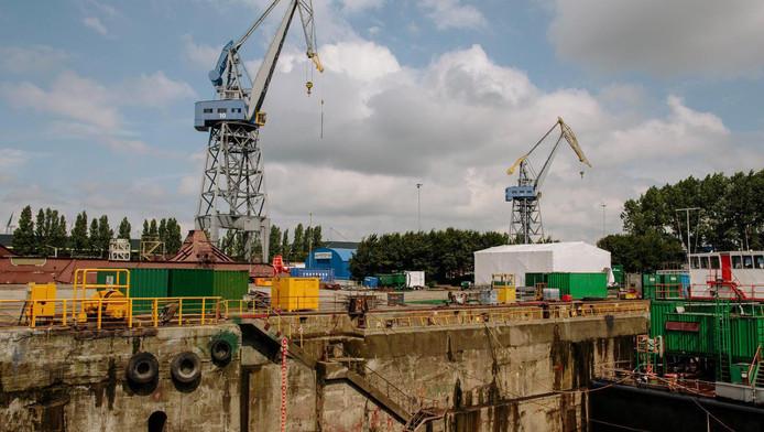 Damen Shipyard op het NDSM-terrein in Noord.