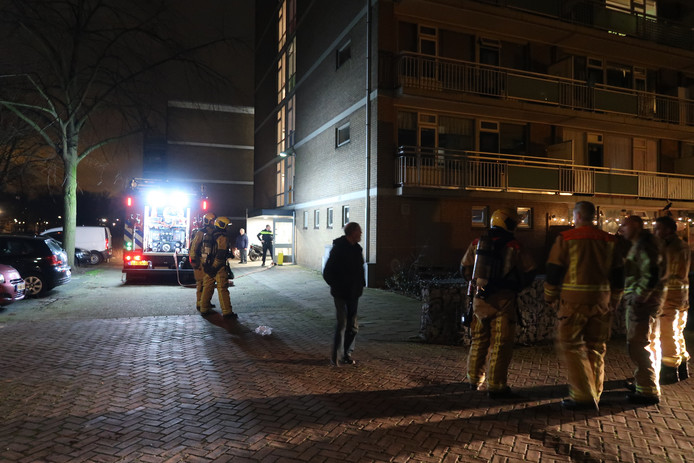 Woningbrand aan de Stieltjesstraat.