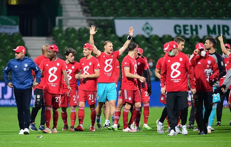 Bayern haalde gisteren een achtste landstitel op rij binnen.