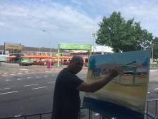 Vierdaagse: schilder maakt live meesterwerk op Wedren
