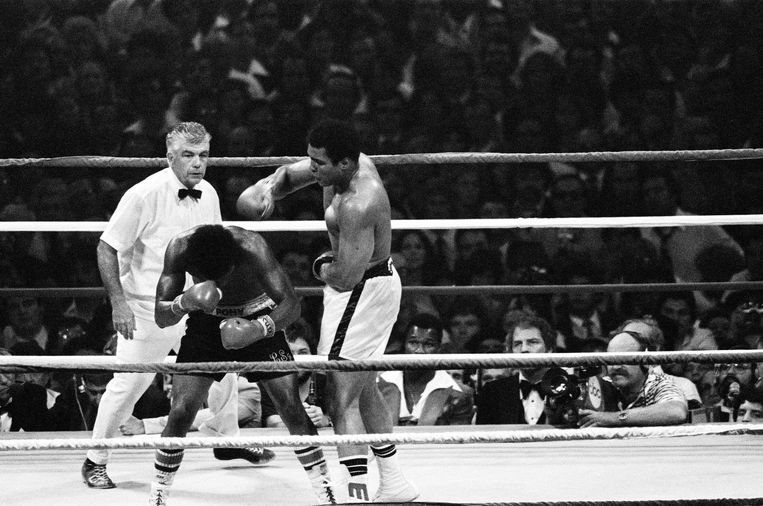 Het gevecht tussen Ali en Spinks in 1978. Beeld null