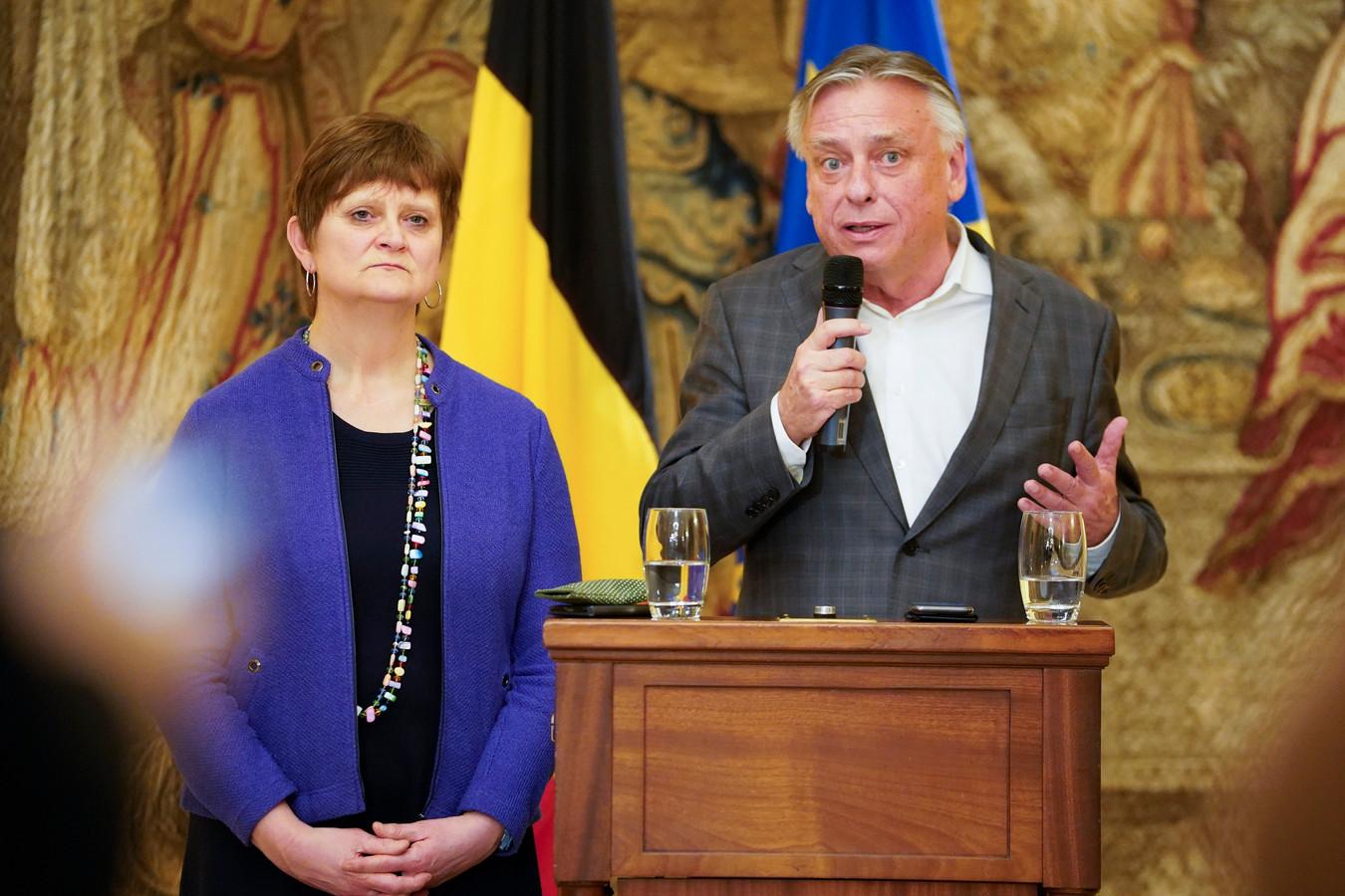 Sabine Laruelle et Patrick Dewael.