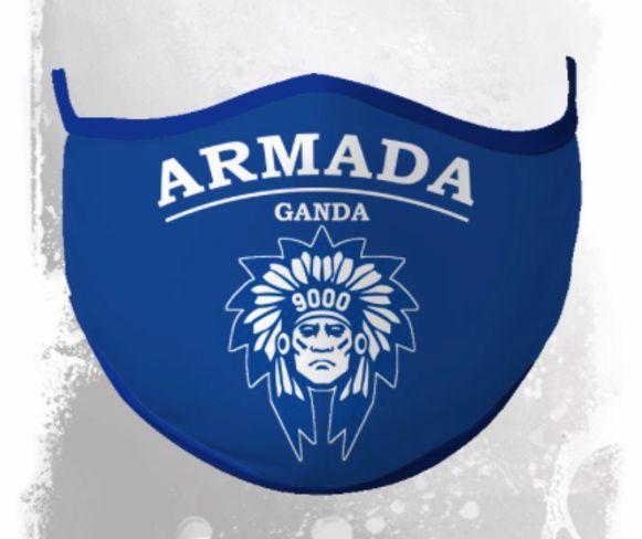 Een mondmasker van Armada Ganda
