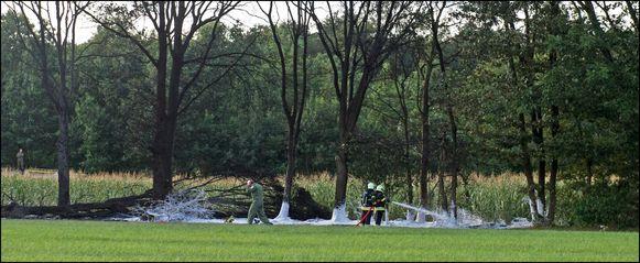 Een F-16 stortte op 16 augustus 2012 neer in Kleine-Brogel.