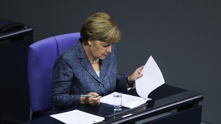Regering-Merkel verwacht dit jaar 800 duizend asielaanvragen. Beeld ap