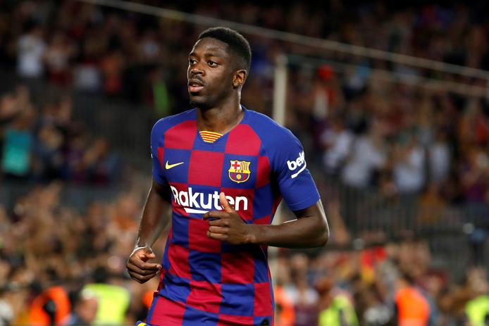 Ousmane Dembélé scoorde afgelopen zondag tegen Sevilla, maar kreeg ook rood.