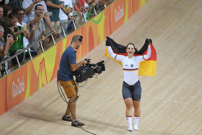 Kristina Vogel in 2016, toen ze olympisch kampioen werd in Rio.